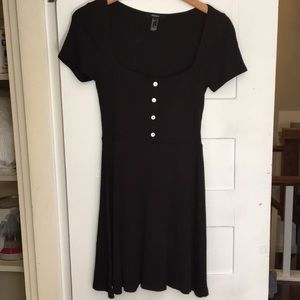 Forever 21 button skater dress